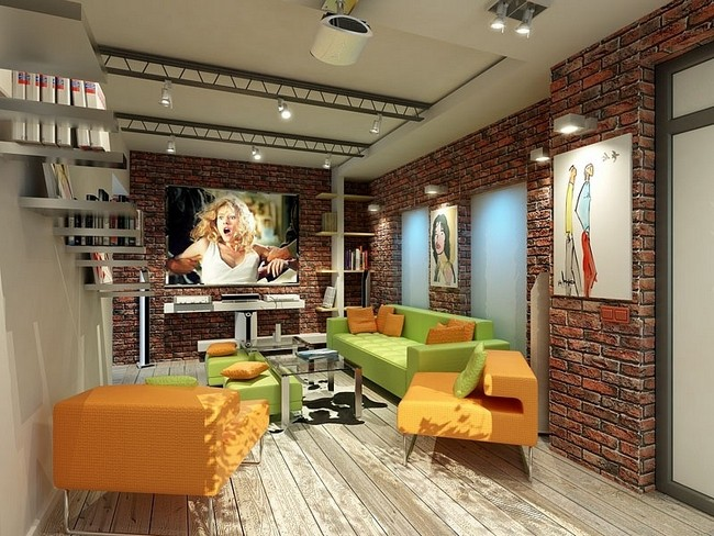 Loft style with a modern interior photo