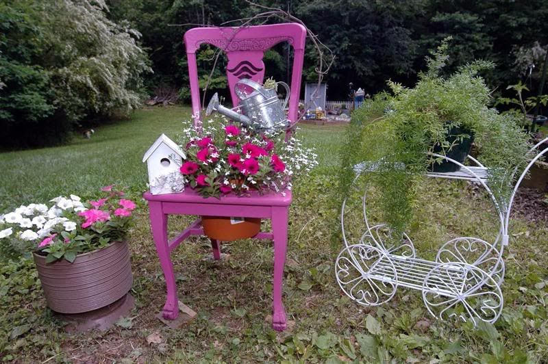 garden bed of a chair