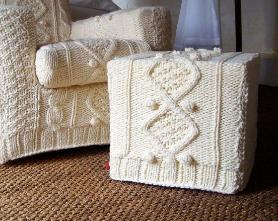 knitted cover for upholstered furniture