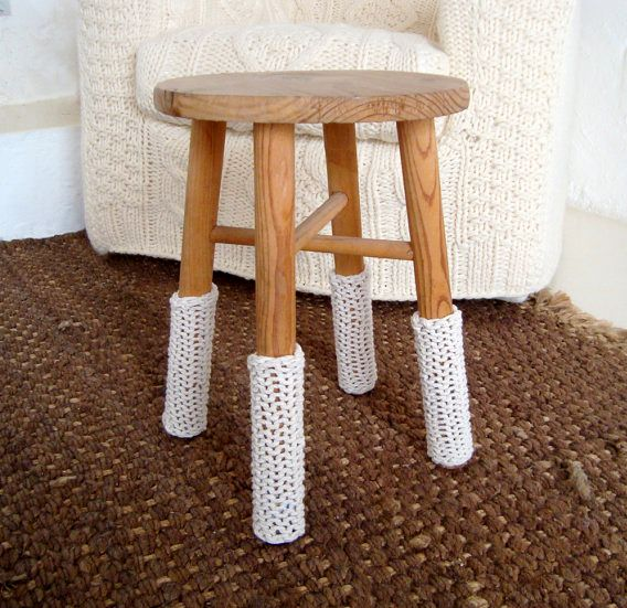 knitted covers for stool legs