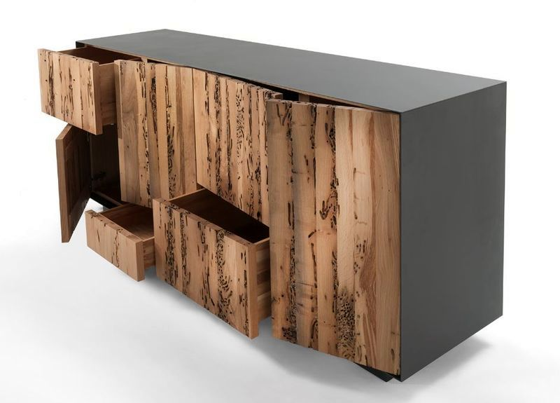 Chest of drawers from natural wood Riva 1920