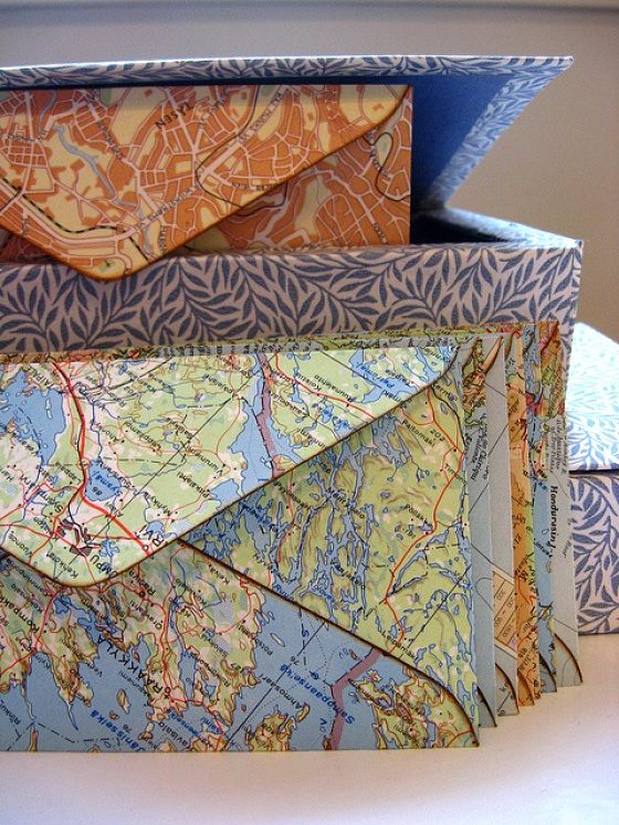envelopes from geographical maps