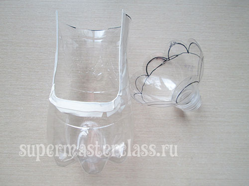 Spare parts for bird feeders from plastic bottles for painting