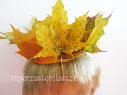 How to make an autumn leaf crown