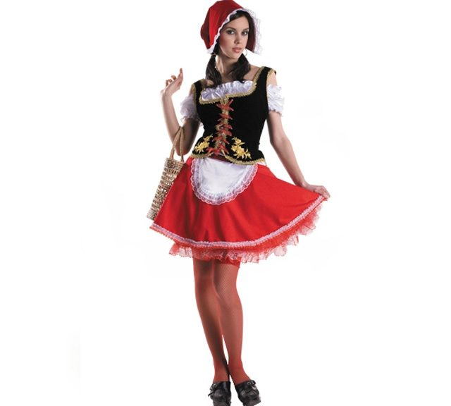 Sew a carnival costume Little Red Riding Hood