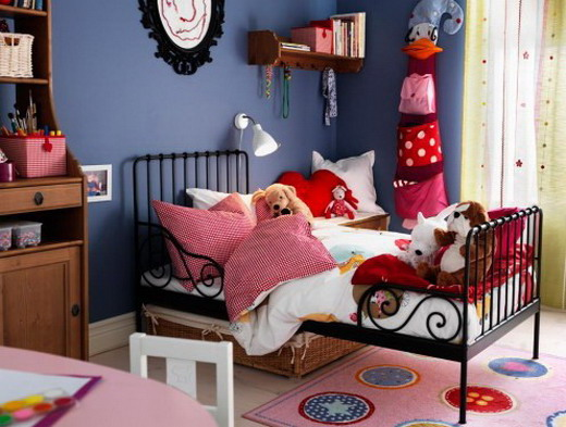 Wrought iron bed in the nursery