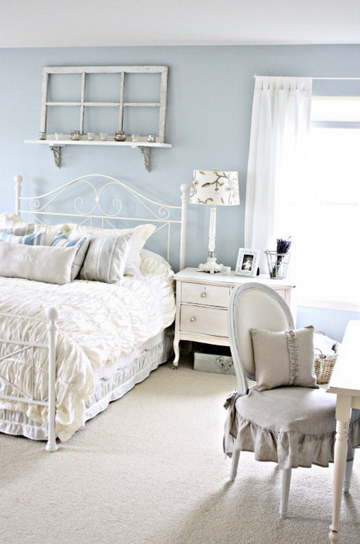 Mediterranean style wrought iron bed