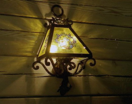Old-style forged lamp