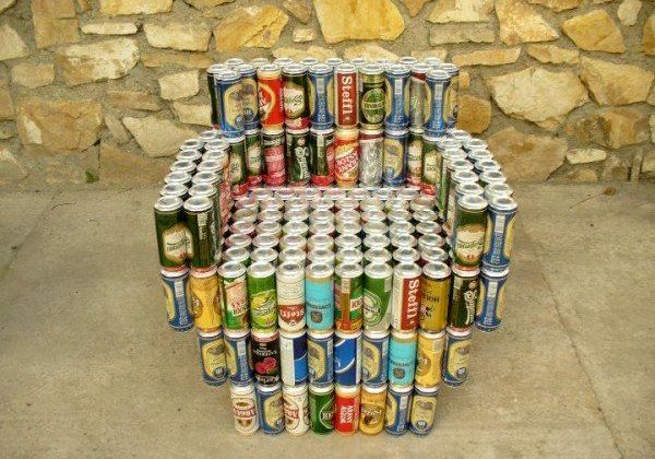 armchair - crafts from beer cans