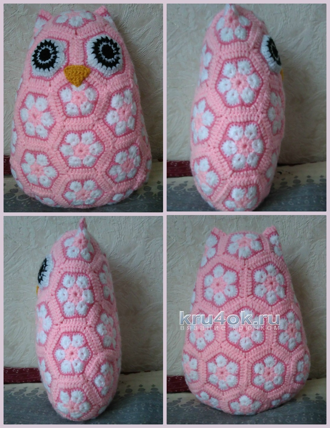 Owl From Motifs African Flower Crochet Motif Motivos Hexagonales Pinterest Motives Workxenia For A Long Time Already All The Favorite Of Became Known To Me