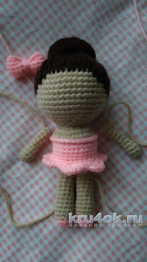 A crocheted ballerina. Master - class from Xenia knitting and knitting patterns