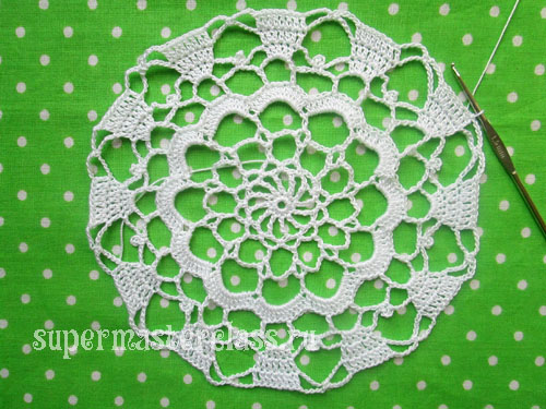Crochet napkins: large round (schemes)