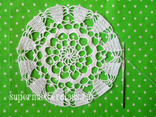 Beautiful round napkins, crocheted (with diagrams)