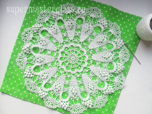 Large round crocheted napkins