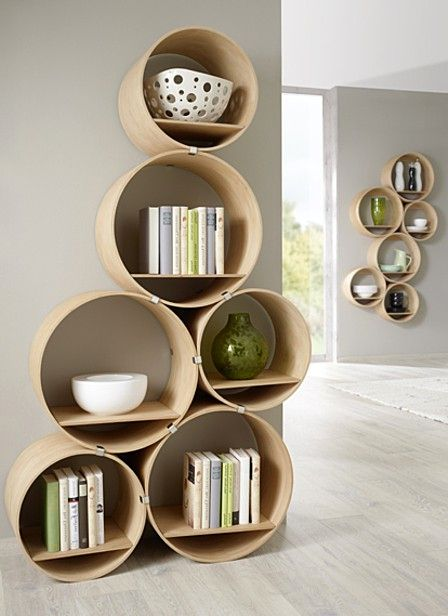 book round shelves