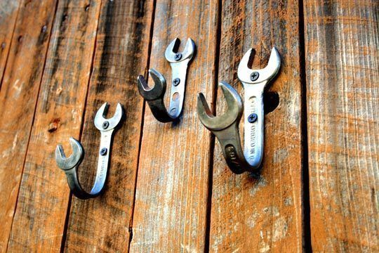 Hooks from wrenches