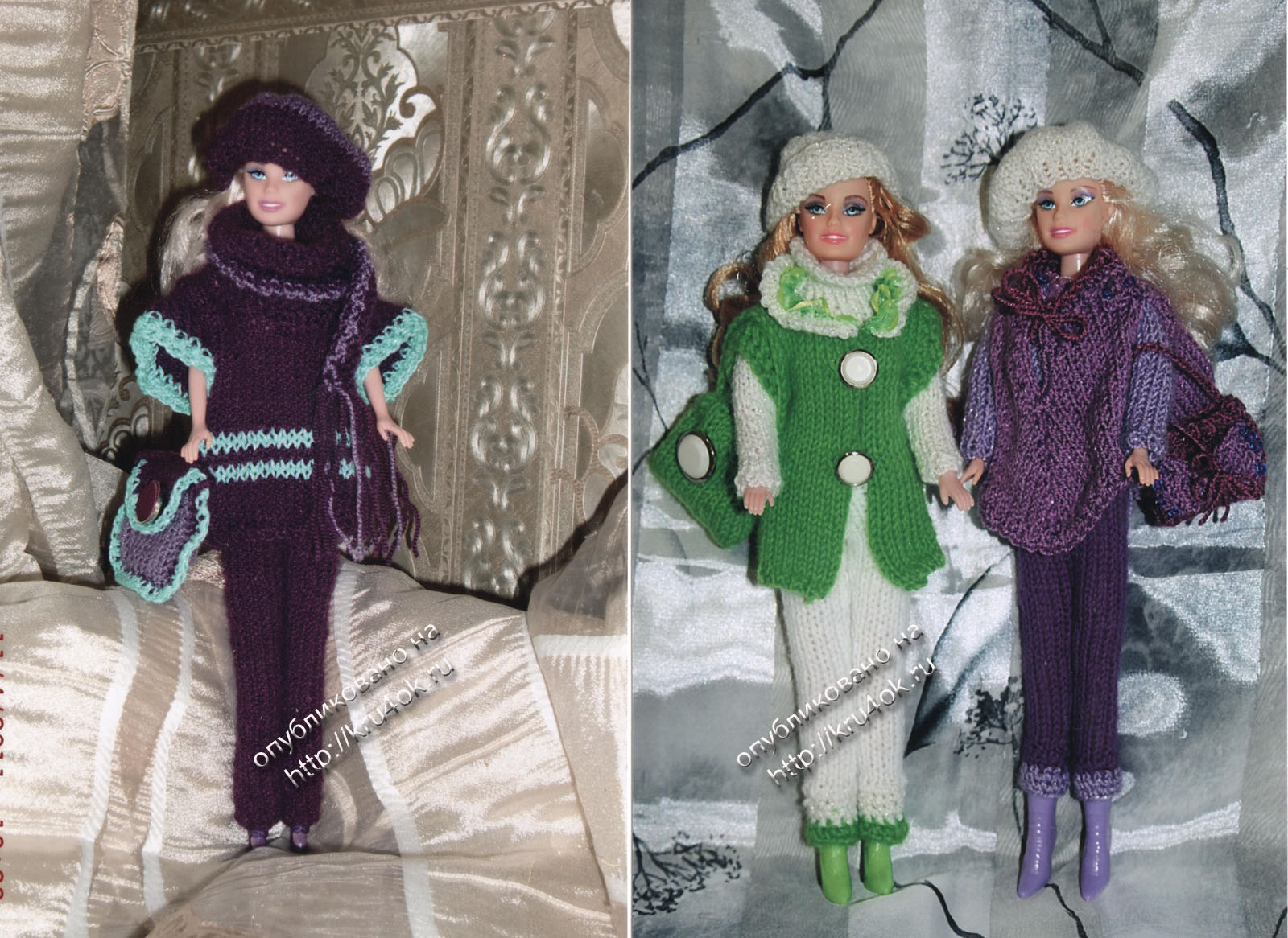 Clothing for dolls of gum: photo and video workshops