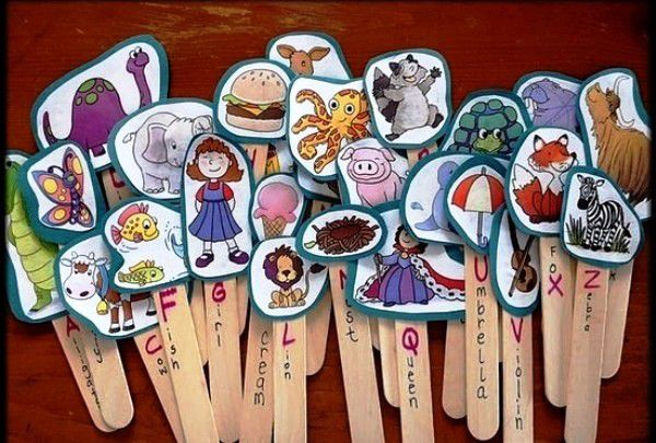pictures on sticks