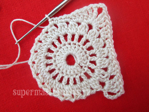 How to crochet a square napkin
