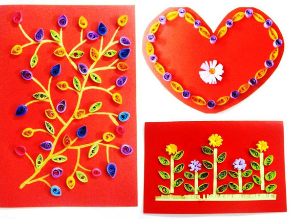 Quilling is a master class. Pictures and postcards by own hands