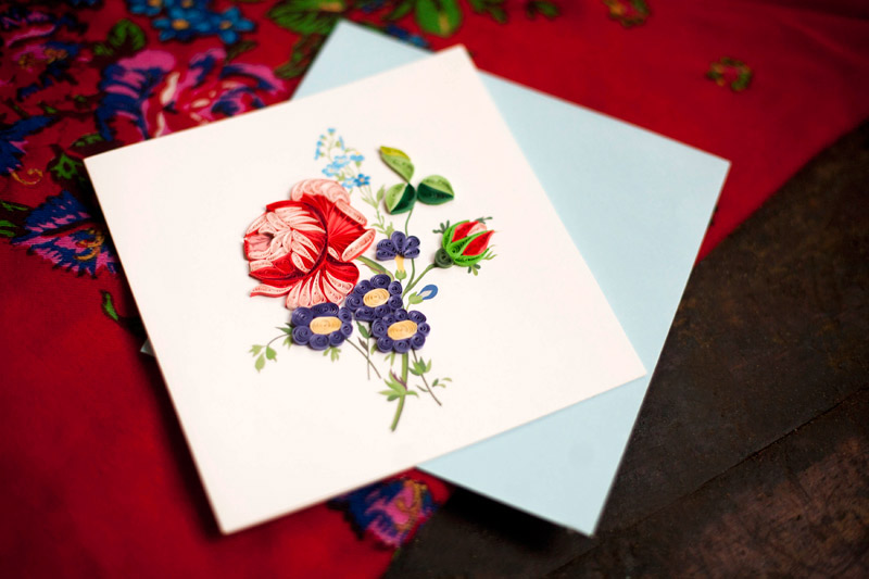 Quilling is a master class. Pictures and postcards by hands (2)