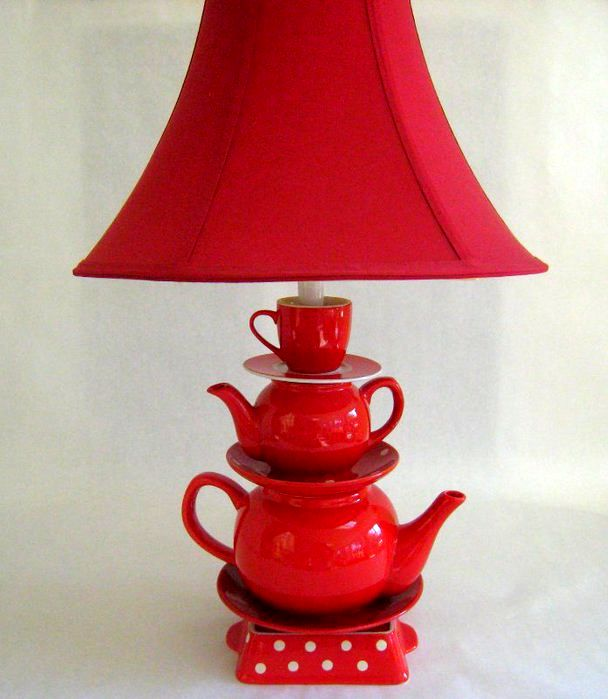 lamp from kettles and cups