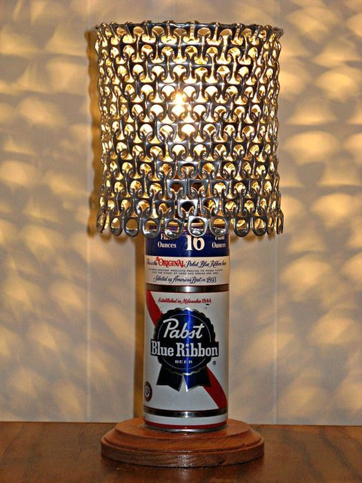 lamp - crafts from beer cans