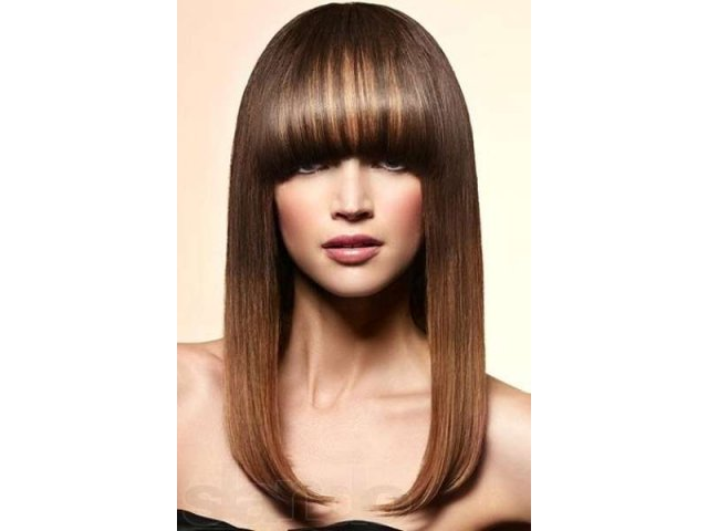 A black haired hairstyle for long hair. Photo №1