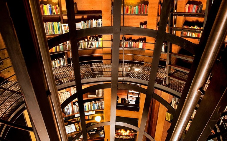 A huge library, if you are bored and decided to read, there is something for you