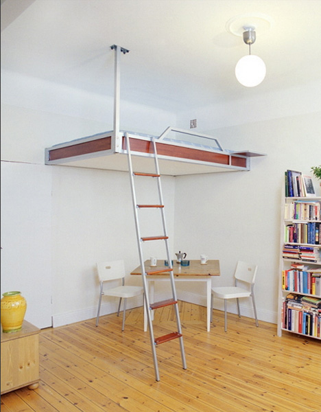 bed - loft with wall and ceiling mounting
