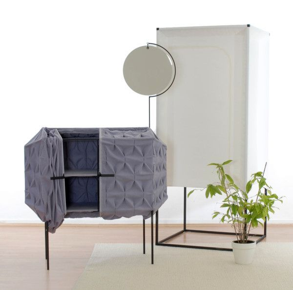 lightweight fabric furniture - chest of drawers with mirror