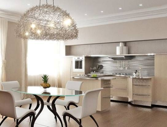 how to choose a chandelier in the kitchen