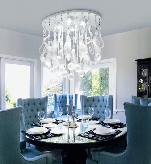 how to choose a chandelier in the dining room