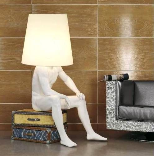 floor lamp in the form of a person