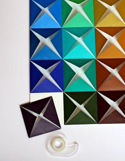 Master-class origami on a paper wall 05
