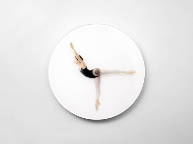 wall clock with ballerina