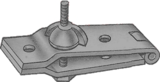 Mini vise from metal hinge