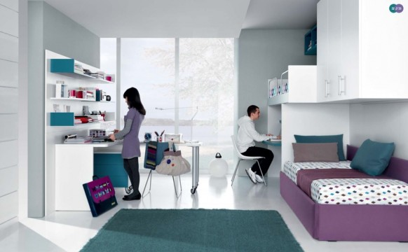 interior design rooms for two teenagers, MisuraEmme