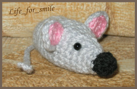 knitted toy mouse