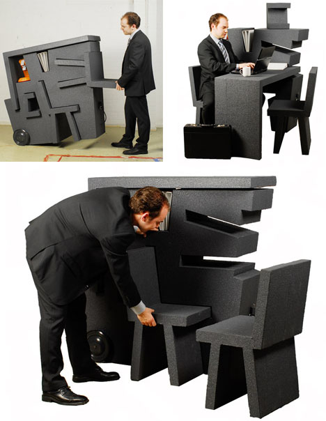 compact furniture for a small office