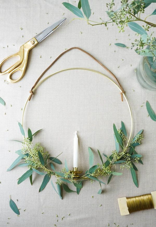 graceful wreath-candlestick with your own hands