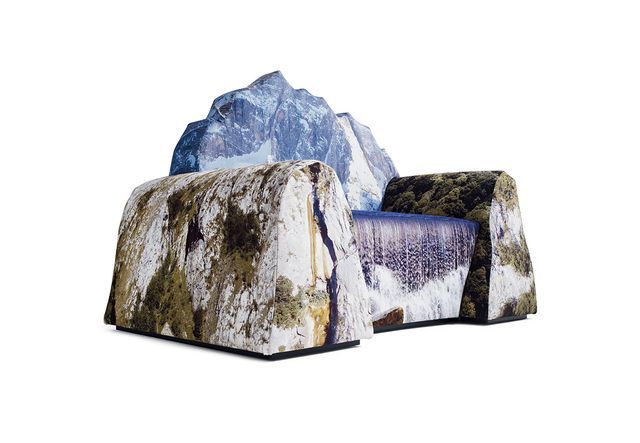 armchair Montanara in the form of a mountain landscape