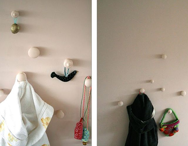 Wall hanging from door handles
