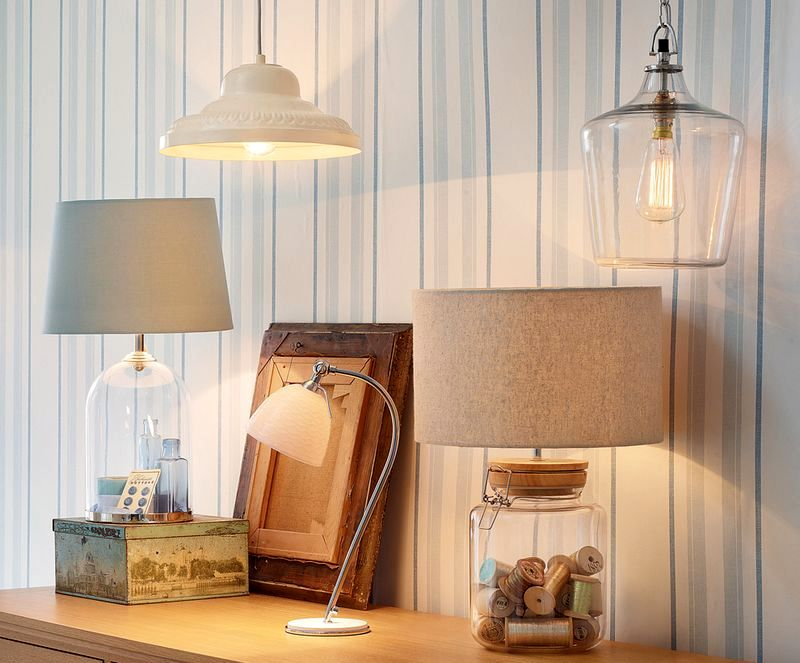 Whitley table lamp with reels