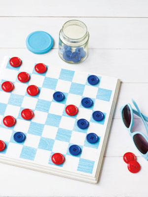 board games with their own hands. for children