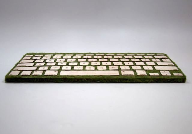 Wooden keyboard with own hands