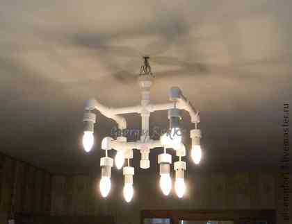 Chandelier in the style of the loft with his own hands