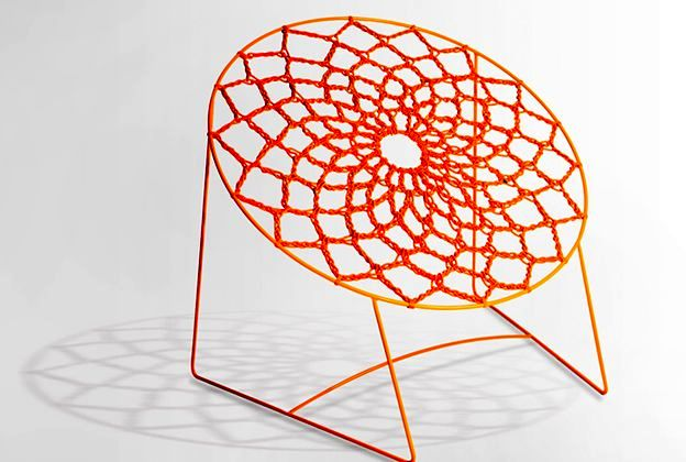 Wicker from the elastic chair Nooq Chair from Henry Sgourakis
