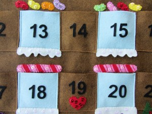 New Year's articles made of felt. How to make a calendar yourself (
