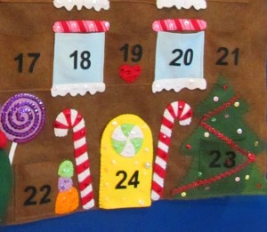New Year's articles made of felt. How to make a calendar yourself